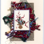 Holiday Ikebana with red berries handmade card by Curmudgeon Cards