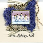 Penguins - Some-Schlepp handmade holiday card by Curmudgeon Cards