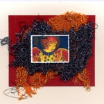 Red, Blue &Yellow Angel Handmade Card by Curmudgeon Cards