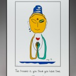 Buddh Una Poster by Curmudgeon Cards