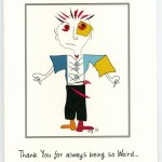 Tasker Watkins - Weird and Wonderful greeting card